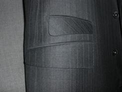 ブリティッシュスタイルのスーツのスラックス
