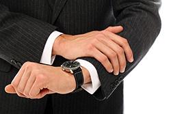 ビジネススーツと腕時計②