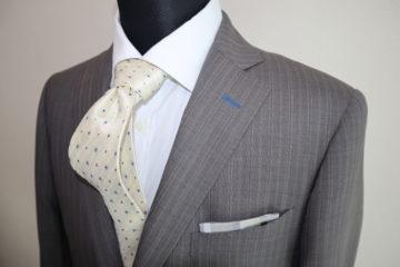 ゼニアクールエフェクト・グレーのオーダースーツの画像