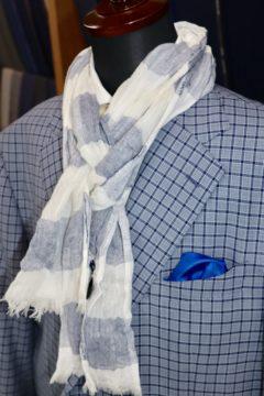 スキャバルブルーチェックのオーダージャケット|Fashion AT Men'sの画像