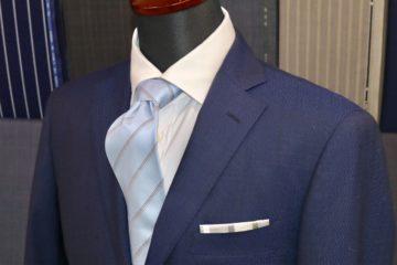 ランバン定番の紺のオーダースーツ|Fashion AT Men'sの画像