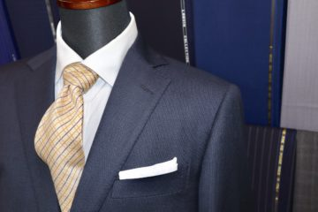 タリア紺のバーズアイでオーダースーツ|Fashion AT Men'sの画像
