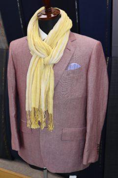 ゼニア・サーモンピンクのオーダージャケット|Fashion AT Men'sの画像