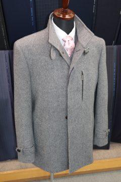 カシミア100%立衿スリムコート|Fashion AT Men'sの画像