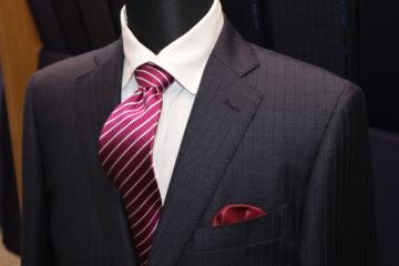 エレクタの織柄ストライプでオーダースーツ Fashion AT Men'sの画像