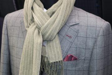 ドーシルクでチェックのオーダージャケット|Fashion AT Men'sの画像