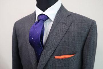 タリアのグレンチェックでオーダースーツ Fashion AT Men'sの画像