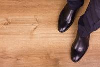 正しくメンテナンスされた革靴の画像
