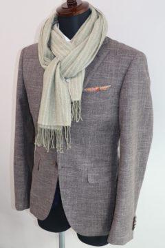 流行のかすれ風の生地でオーダージャケット|Fashion AT Men'sの画像
