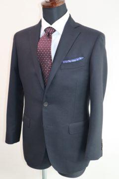 紺の織柄でオーダージャケット|Fashion AT Men'sの画像