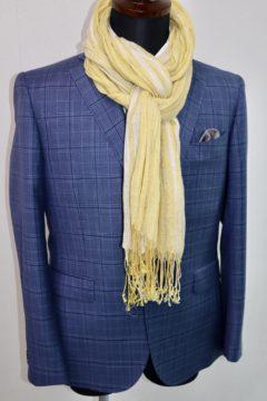 春らしいドーメルブルーでオーダージャケット|Fashion AT Men'sの画像