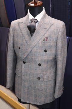 ドーメルグレンチェックでダブルスーツ|Fashion AT Men'sの画像
