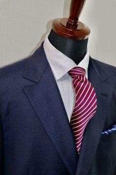 ランバンの織柄でエレガントなオーダースーツ|Fashion AT Men'sの画像
