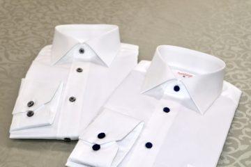 ワイドカラーの白シャツ2枚セット|Fashion AT Men'sの画像