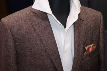 かすれ風のドーシルクでオーダージャケット|Fashion AT Men'sの画像