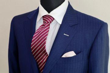 サファイアブルーのランバンオーダースーツ|Fashion AT Men'sの画像