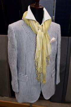 麻100%で涼し気なオーダージャケット|Fashion AT Men'sの画像