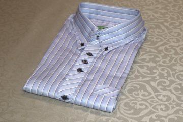 生地をバイアス仕様にしたオーダーシャツ|Fashion AT Men'sの画像