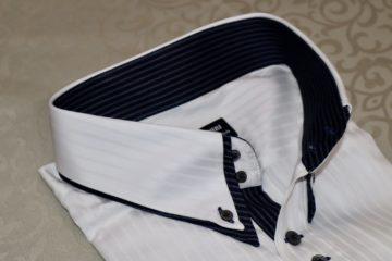 ヒューバロス二重衿のオーダーシャツ|Fashion AT Men'sの画像
