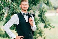 夏の結婚式・フォーマルスタイルの男性
