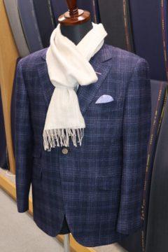 ゼニアかすれ風の紺生地でオーダージャケット|Fashion AT Men'sの画像
