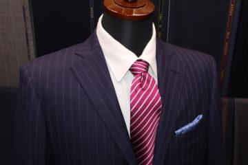 ダンヒル紺ストライプでオーダースーツ|Fashion AT Men'sの画像