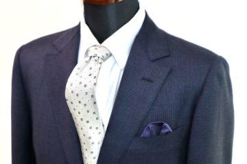 ゼニアのマイクロチェックでオーダースーツ|Fashion AT Men'sの画像