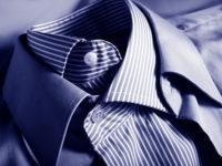 ブルーのオーダーワイシャツ