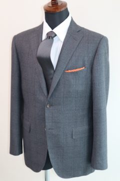 フラノ調ウインドウペーンオーダースーツ|Fashion AT Men'sの画像