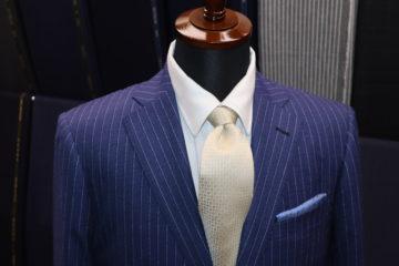 ライトネイビーのランバンオーダースーツ|Fashion AT Men'sの画像