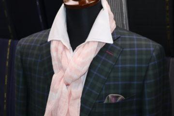 グリーンのチェックのドーシルクジャケット|Fashion AT Men'sの画像