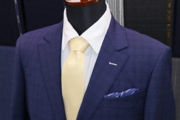 ランバンのライトネイビーチェックでスーツ|Fashion AT Men'sの画像