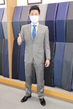 モヘア&シルク混のスキャバルオーダースーツ|Fashion AT Men'sの画像