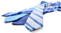 ブルー系の爽やかな夏用ネクタイ